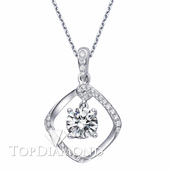 P1598. 18K White Gold Diamond Pendant Setting P1598, Diamond Pendants. Necklaces & Pendants. Top Diamonds & Jewelry