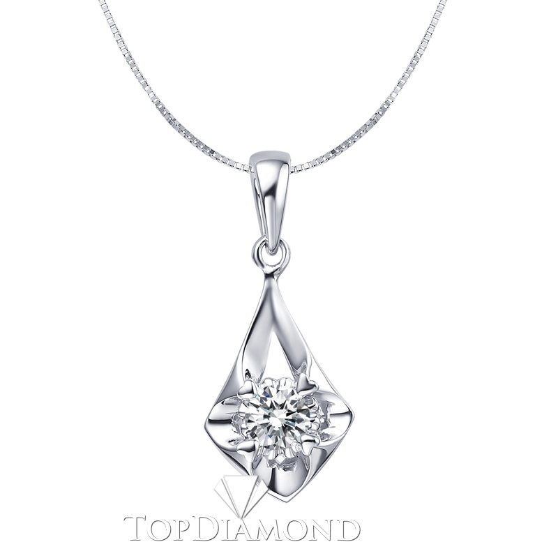 P1615. 18K White Gold Diamond Pendant Setting P1615, Diamond Pendants. Necklaces & Pendants. Topt Diamonds & Jewelry