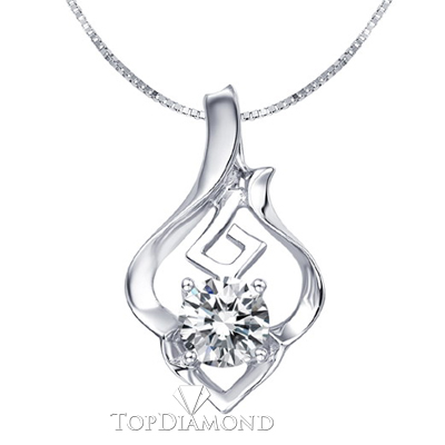 P1621. 18K White Gold Diamond Pendant Setting P1621, Diamond Pendants. Necklaces & Pendants. Top Diamonds & Jewelry