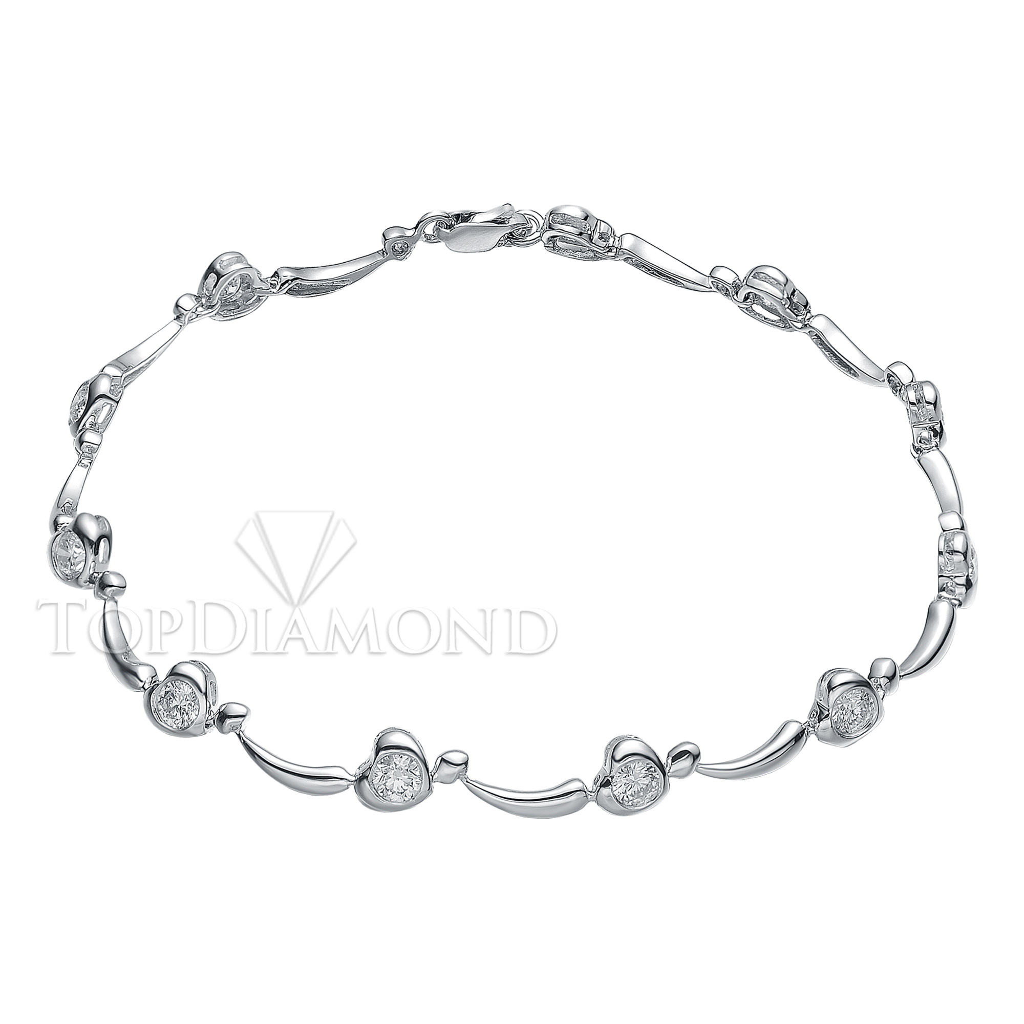 HPBL0134. Diamond 18K White Gold Bracelet HPBL0134, Diamond Bracelets. Bracelets. Top Diamonds & Jewelry