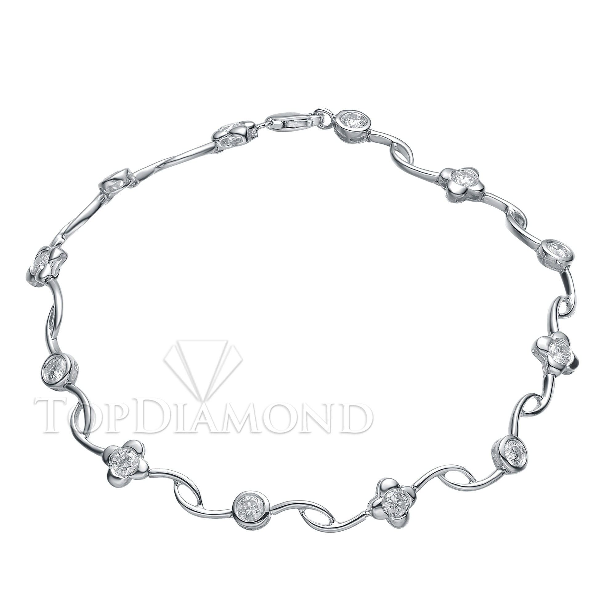 HPBL0136. Diamond 18K White Gold Bracelet HPBL0136, Diamond Bracelets. Bracelets. Top Diamonds & Jewelry