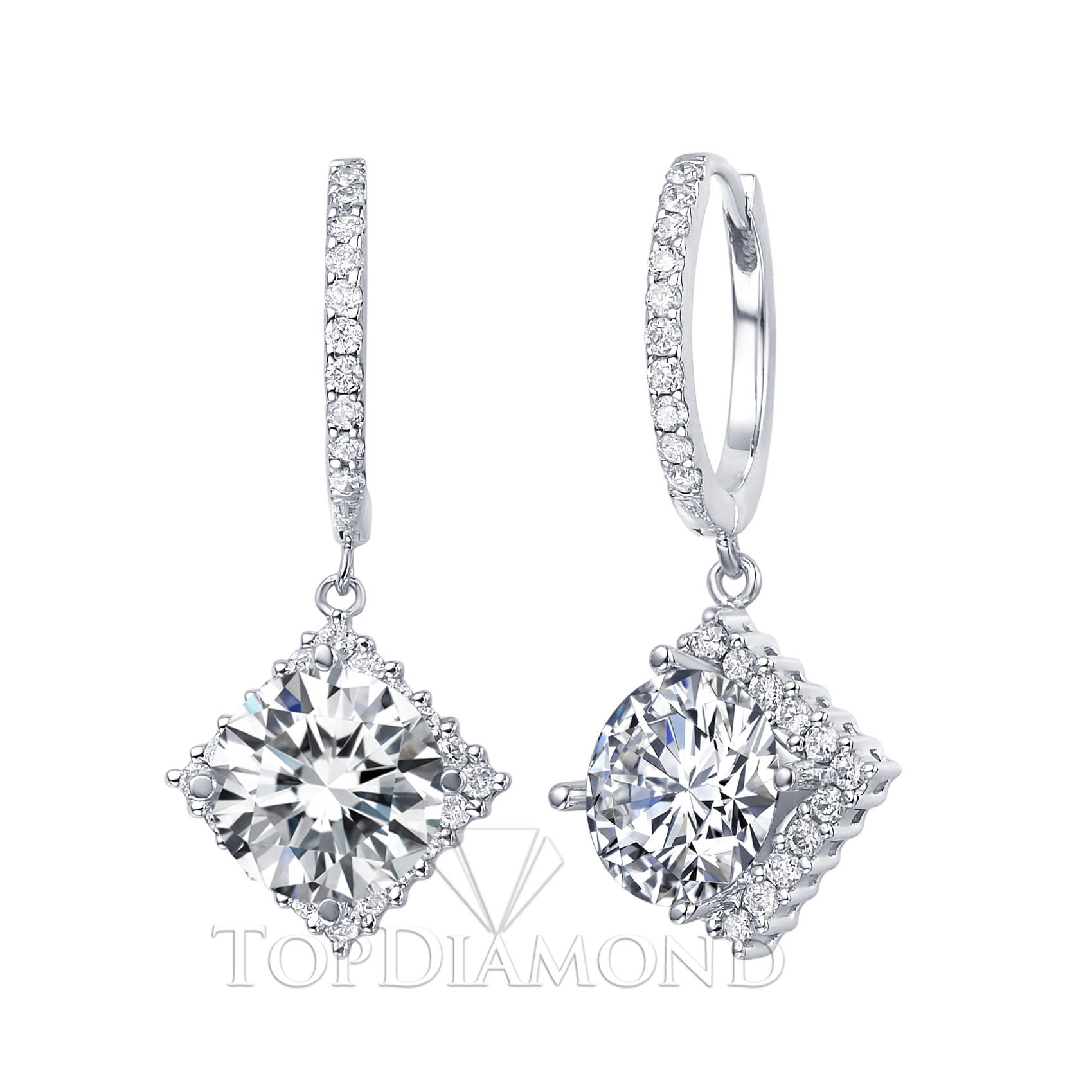 jewelry setting diamond top p earrings diamonds dangling