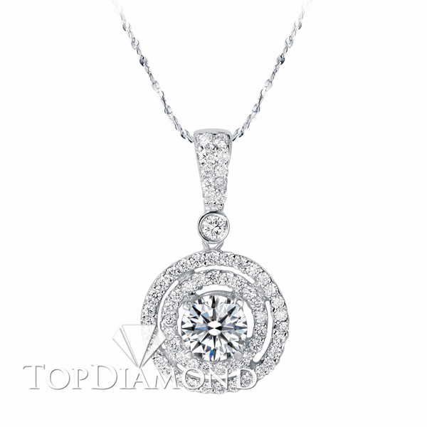 baguette platinum diamond midcentury necklace pendant