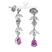 Pink sapphire and diamond Earrings E0798. Pink sapphire and diamond Earrings E0798, Gemstone Earrings. Gemstone Jewelry. Top Diamonds & Jewelry