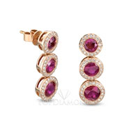 Red ruby and diamond Earrings E0757. Red ruby and diamond Earrings E0758, Gemstone Earrings. Gemstone Jewelry. Top Diamonds & Jewelry