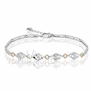 Diamond 18K White Gold Bracelet  L1747. Diamond 18K White Bracelet  L1747, Diamond Bracelets. Bracelets. Top Diamonds & Jewelry