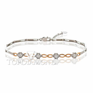 Diamond 18K White and Gold Bracelet L1749. Diamond 18K White and Gold Bracelet L1749, Diamond Bracelets. Bracelets. Top Diamonds & Jewelry
