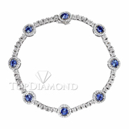18K White Gold 1.69ct diamond and Blue Sapphire Bracelet L0215. 18K White Gold 1.69ct diamond and Blue Sapphire Bracelet L0215, Gemstones Bracelets. Bracelets. Top Diamonds & Jewelry