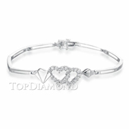 Diamond 18K White Gold Bracelet L0052. Diamond 18K White Gold Bracelet L0052, Diamond Bracelets. Bracelets. Top Diamonds & Jewelry