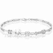 Diamond 18K White Gold Bracelet Setting L1731. Diamond 18K White Gold Bracelet Setting L1731, Diamond Bracelets. Bracelets. Top Diamonds & Jewelry
