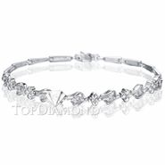 Diamond 18K White Gold Bracelet L1721. Diamond 18K White Gold Bracelet L1721, Diamond Bracelets. Bracelets. Top Diamonds & Jewelry