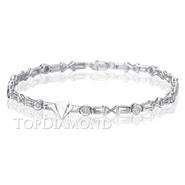 Diamond 18K White Gold Bracelet Setting L1735. Diamond 18K White Gold Bracelet Setting L1735, Diamond Bracelets. Bracelets. Top Diamonds & Jewelry
