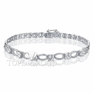 Diamond 18K White Gold Bracelet L0216. Diamond 18K White Gold Bracelet L0216, Diamond Bracelets. Bracelets. Top Diamonds & Jewelry