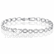 Diamond Tennis Bracelet in 18K White Gold Style L1806. Diamond Tennis Bracelet in 18K White Gold Style L1806, Tennis Bracelets. Bracelets. Hung Phat Diamonds & Jewelry