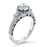 Scott Kay Halo Engagement Ring Setting M1828R310 - $500 GIFT CARD INCLUDED WITH PURCHASE.