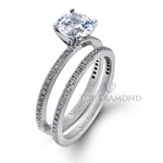 Simon G Engagement Ring Setting PR108-$100 GIFT CARD INCLUDED WITH PURCHASE.