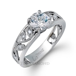 Simon G Engagement Ring Setting MR2100-$100 GIFT CARD INCLUDED WITH PURCHASE.