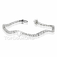 Diamond 18K White Gold Bracelet L1295. Diamond 18K White Bracelet L1295, Diamond Bracelets. Bracelets. Top Diamonds & Jewelry
