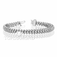 Diamond Tennis Bracelet in 18K White Gold L1356. Diamond Tennis Bracelet in 18 Karat White Gold L1356, Tennis Bracelets. Bracelets. Top Diamonds & Jewelry