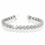 Diamond Tennis Bracelet in 18K White Gold L1357. Diamond Tennis Bracelet in Platinum and 18K White Gold L1357, Tennis Bracelets. Bracelets. Top Diamonds & Jewelry