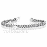Diamond Tennis Bracelet in 18K White Gold L1359. Diamond Tennis Bracelet in Platinum and 18K White Gold L1359, Tennis Bracelets. Bracelets. Top Diamonds & Jewelry