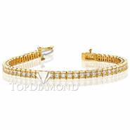 Diamond Tennis Bracelet in 18K  Yellow Gold L1361. Diamond Tennis Bracelet in Platinum and 18K  Yellow Gold L1361, Tennis Bracelets. Bracelets. Top Diamonds & Jewelry