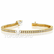 Diamond Tennis Bracelet in 18K Yellow Gold L1362. Diamond Tennis Bracelet in Platinum and 18K Yellow Gold L1362, Tennis Bracelets. Bracelets. Top Diamonds & Jewelry
