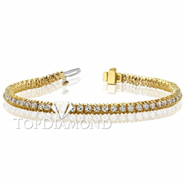 Diamond Tennis Bracelet in 18K Yellow Gold L1366. Diamond Tennis Bracelet in Platinum and 18K Yellow Gold L1366, Tennis Bracelets. Bracelets. Top Diamonds & Jewelry