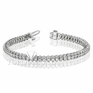 Diamond Tennis Bracelet in 18K White Gold L1368. Diamond Tennis Bracelet in Platinum and 18K White Gold L1368, Tennis Bracelets. Bracelets. Top Diamonds & Jewelry