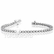 Diamond Tennis Bracelet in 18K White Gold L1373. Diamond Tennis Bracelet in Platinum and 18K White Gold L1373, Tennis Bracelets. Bracelets. Top Diamonds & Jewelry