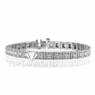 Diamond Tennis Bracelet in 18K White Gold L1378. Diamond Tennis Bracelet in Platinum and 18K White Gold L1378, Tennis Bracelets. Bracelets. Top Diamonds & Jewelry