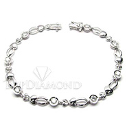 Diamond 18K White Gold Bracelet L1709. Diamond Bracelet L1709, Diamond Bracelets. Bracelets. Top Diamonds & Jewelry