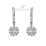 Diamond Dangling Earrings Setting E2258A. Diamond Dangling Earrings Setting E2258, Dangle Earrings. Earrings. Top Diamonds & Jewelry