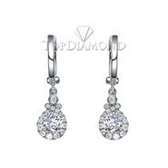 Diamond Dangling Earrings Setting E2259A. Diamond Dangling Earrings Setting E2259, Dangle Earrings. Earrings. Top Diamonds & Jewelry