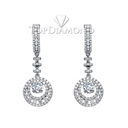 Diamond Dangling Earrings Setting E2260A. Diamond Dangling Earrings Setting E2260, Dangle Earrings. Earrings. Top Diamonds & Jewelry