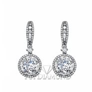 Diamond Dangling Earrings Setting E2261A. Diamond Dangling Earrings Setting E2261, Dangle Earrings. Earrings. Top Diamonds & Jewelry