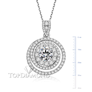 18K White Gold Diamond Pendant Setting P2571. 18K White Gold Diamond Pendant Setting P2571, Diamond Pendants. Necklaces & Pendants. Top Diamonds & Jewelry