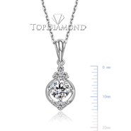 18K White Gold Diamond Pendant Setting P2572. 18K White Gold Diamond Pendant Setting P2572, Diamond Pendants. Necklaces & Pendants. Top Diamonds & Jewelry