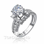 Diamond Engagement Ring Setting Style B2817. Diamond Engagement Ring Setting Style B2817, Diamond Accented. Engagement Ring Settings. Top Diamonds & Jewelry