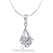 18K White Gold Diamond Pendant Setting P1615. 18K White Gold Diamond Pendant Setting P1615, Diamond Pendants. Necklaces & Pendants. Topt Diamonds & Jewelry