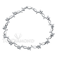Diamond 18K White Gold Bracelet HPBL0129. Diamond 18K White Gold Bracelet HPBL0129, Diamond Bracelets. Bracelets. Top Diamonds & Jewelry