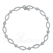 Diamond 18K White Gold Bracelet L0302. Diamond 18K White Gold Bracelet L0302, Diamond Bracelets. Bracelets. Top Diamonds & Jewelry