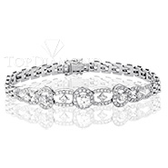 Diamond 18K White Gold Bracelet Setting L1481. Diamond 18K White Gold Bracelet Setting L1481, Diamond Bracelets. Bracelets. Top Diamonds & Jewelry
