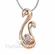 18K Rose-Gold Diamond Pendant P2157. 18K Rose-Gold Diamond Pendant P2157, Diamond Pendants. Necklaces & Pendants. Top Diamonds & Jewelry