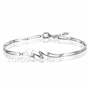 Diamond 18K White Gold Bracelet L1758. Diamond 18K White Bracelet L1758, Diamond Bracelets. Bracelets. Top Diamonds & Jewelry
