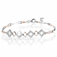Diamond 18K White and Gold Bracelet L1766. Diamond 18K White and Gold Bracelet L1766, Diamond Bracelets. Bracelets. Top Diamonds & Jewelry