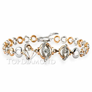 Diamond 18K White and Gold Bracelet L1767. Diamond 18K White and GoldBracelet L1767, Diamond Bracelets. Bracelets. Top Diamonds & Jewelry