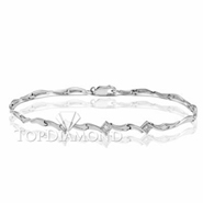 Diamond 18K White Gold Bracelet L1769. Diamond 18K White Bracelet L1769, Diamond Bracelets. Bracelets. Top Diamonds & Jewelry