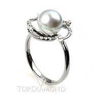 South Sea Pearl Ring B2420. South Sea Pearl Ring B2420EW50D, Pearl Rings. Pearl Jewelry. Hung Phat Diamonds & Jewelry