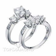 Diamond Engagement Set Mounting Style BD5009. Diamond Engagement Ring Setting & Wedding Band Set BD5009, Matching Sets. Engagement Ring Settings. Top Diamonds & Jewelry